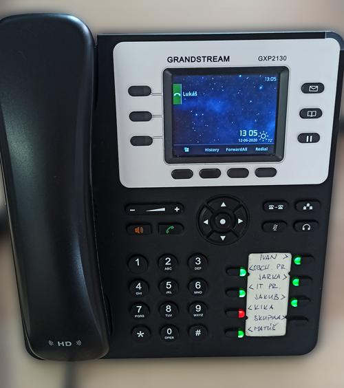 Telefón Grandstream GXP2130 s BLF tlačidlami