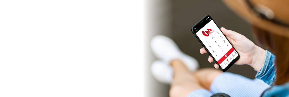 Ukážka aplikácie VIPTel Phone v mobile - VoIP klient pre Android a iOS smartfóny